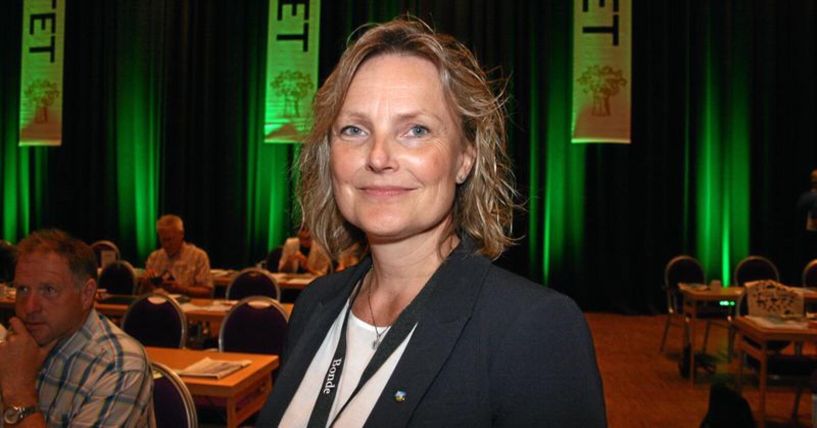 Innstilling: Trine Hasvang Vaag er innstilt for attval som styreleiar i Nortura av valkomiteen. Foto: Bjarne Bekkeheien Aase