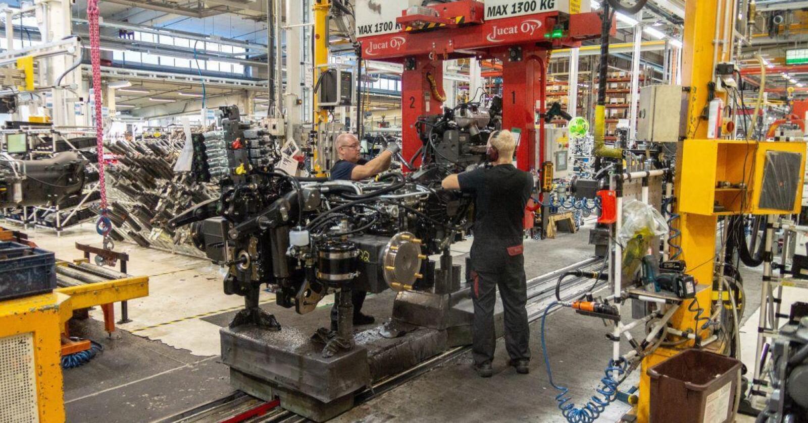 Komponentmangel: CNH må stenge flere fabrikker en periode i oktober, grunnet komponentmangel. Arkivbilde: CNH