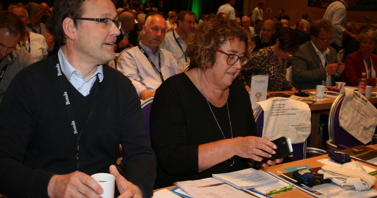 Landbruks- og matminister Olaug Bollestad (KrF) og statssekretær Widar Skogan motsatte seg lenge ekspropriasjonsrettslig erstatning, skriver spaltisten. Foto: Bjarne Bekkeheien Aase