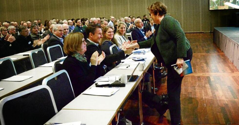 Forhandlingar: Olaug Bollestad i KrF har vorte øvste sjef i Landbruks- og matdepartementet. Ho forhandlar med bondeorganisasjonane om klimaavtale. Foto: Siri Juell Rasmussen
