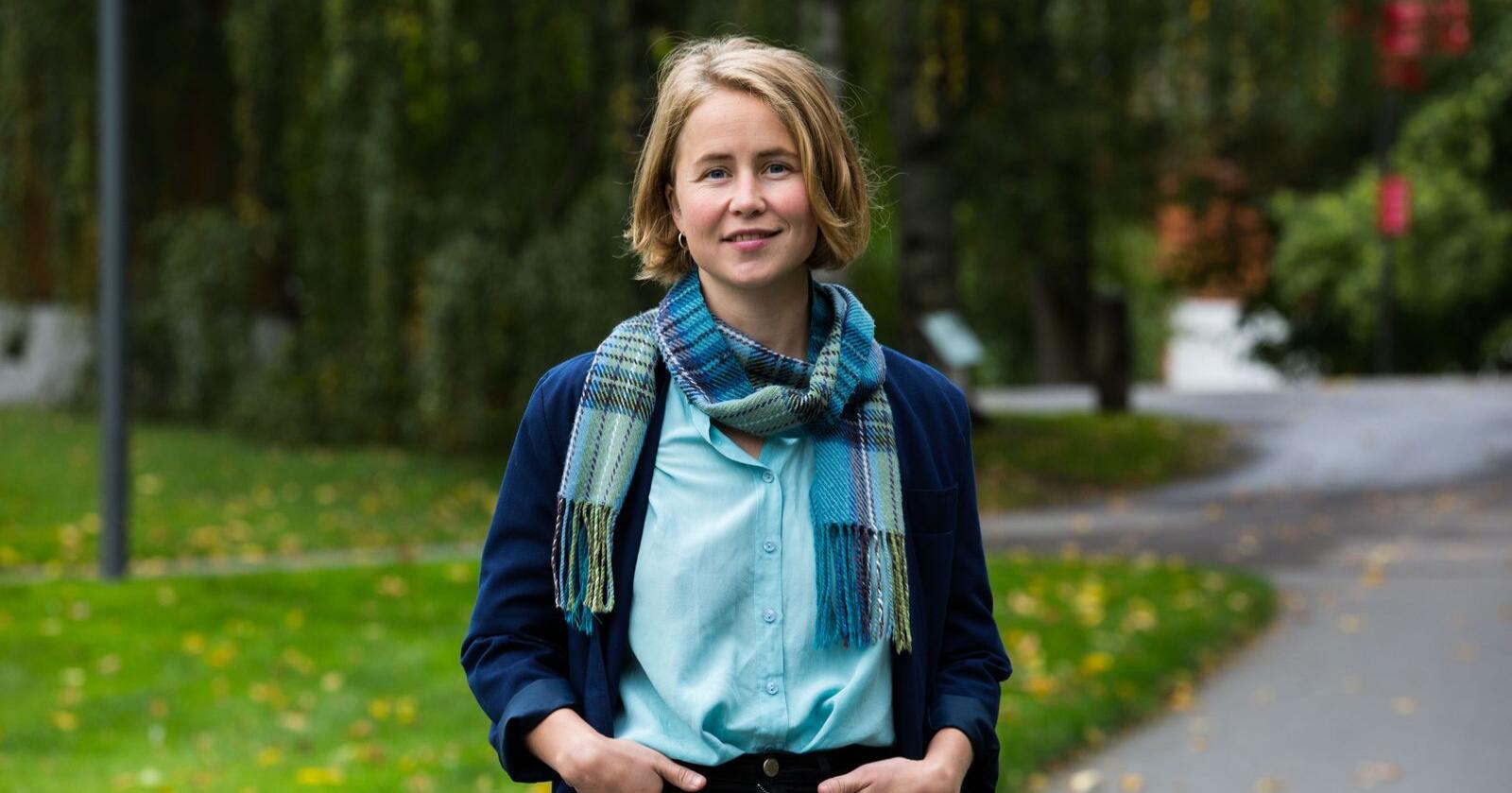 Leder Anja Bakken Riise i Framtiden i våre hender stiller miljøkrav til de rødgrønne partiene. Foto: Mariam Butt / NTB