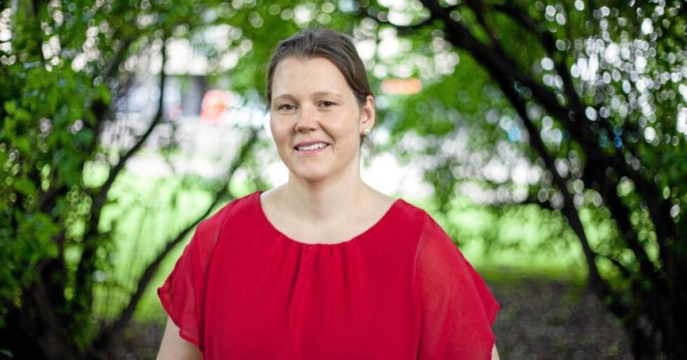 Jordvernforslag: Frøydis Haugen, 2. nestleiar i Norges Bondelag, ber regjeringa kome med konkrete tiltak for å ta vare på matjorda. Foto: Patrick da Silva Sæther