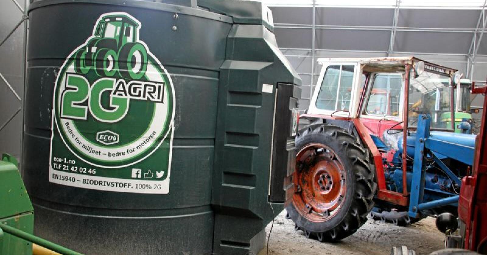 Biodiesel: Døra til fossilfritt landbruk er fortsatt vidåpen, skriver innsenderen. Foto: Lars Bilit Hagen