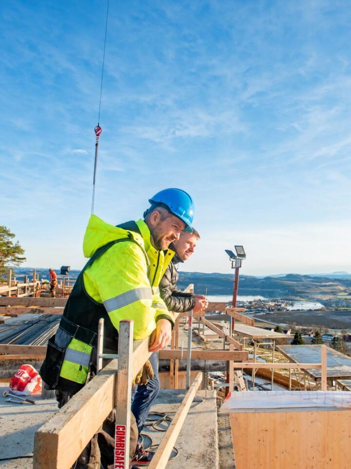 Storslagen utsikt: Det er ingenting å si på utsikten fra de kommende hotellrommene på Øyna i Inderøy. Alle foto: Håvard Zeiner