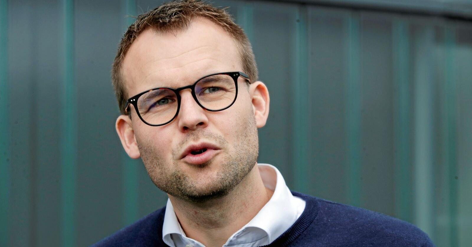 – Jeg vil gi honnør til næringa som har vært offensive og laget en klimaplan, sier KrF-leder Kjell Ingolf Ropstad. Foto: Vidar Ruud / NTB