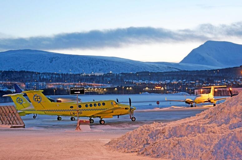 Problem: Babcock har hatt store utfordringar med fleire av abmulanseflya sine. Foto: Rune Stoltz Bertinussen / NTB scanpix