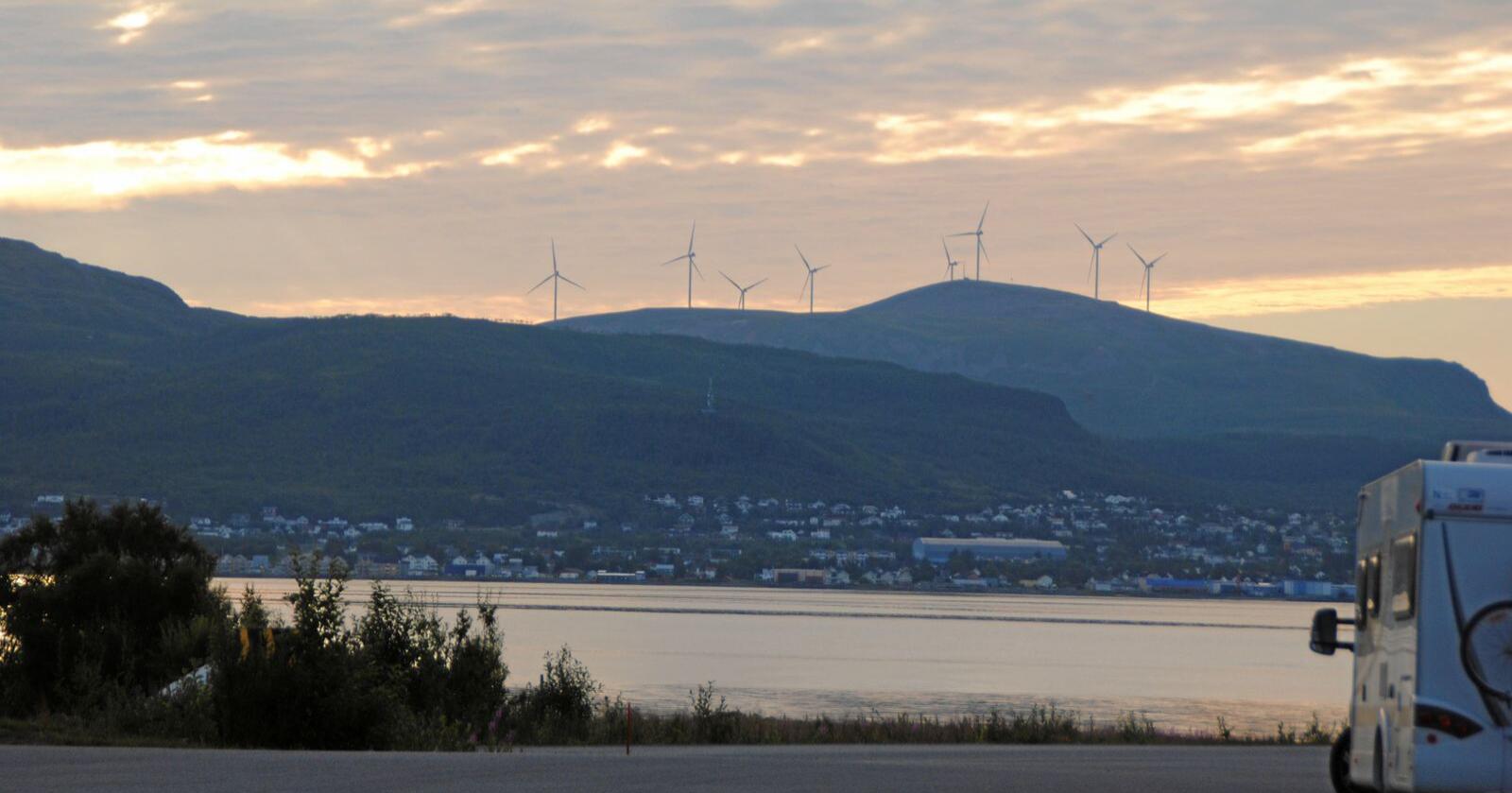 Vindkraftverket i Sortland i Nordland er eid av det finske energiselskapet Fortum. Foto: Lars Bilit Hagen