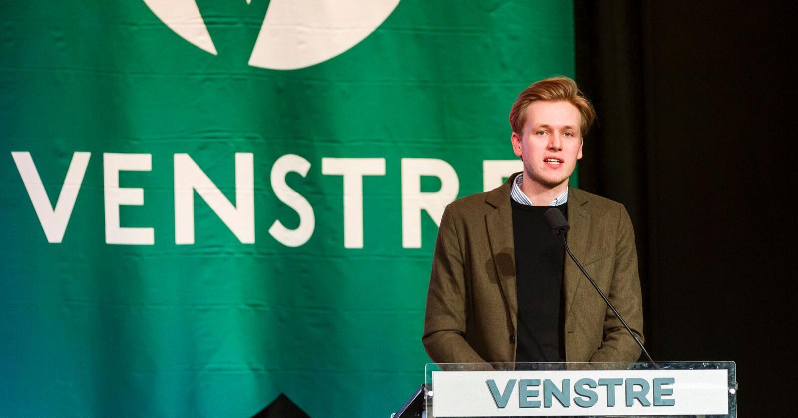 Unge Venstre-leder Sondre Hansmark. Foto: Ned Alley / NTB scanpix