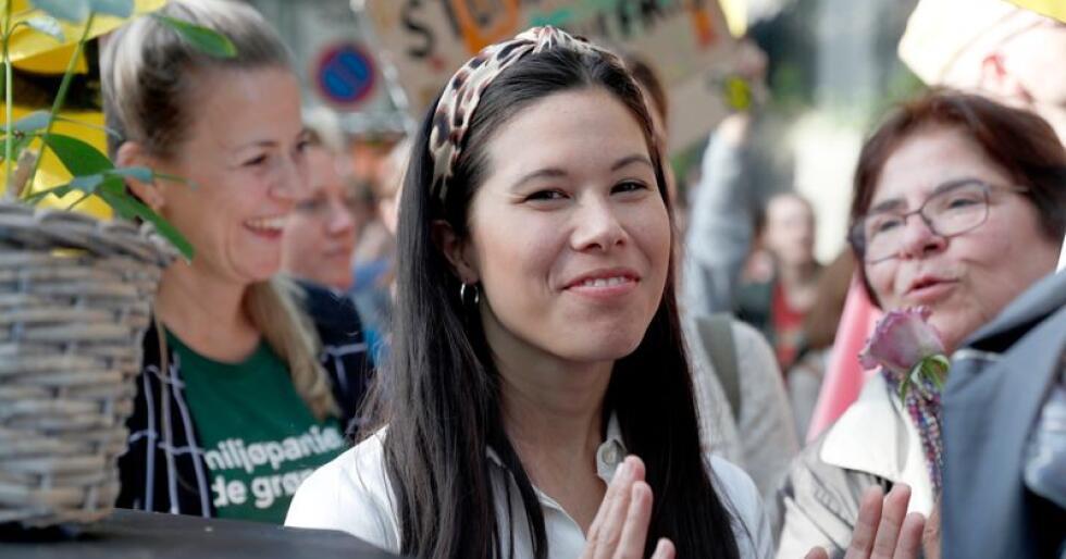 Byråd for miljø og samferdsel Lan Marie Berg (MDG) seier det er uaktuelt med mindre bompengar. Foto: Terje Bendiksby / NTB scanpix