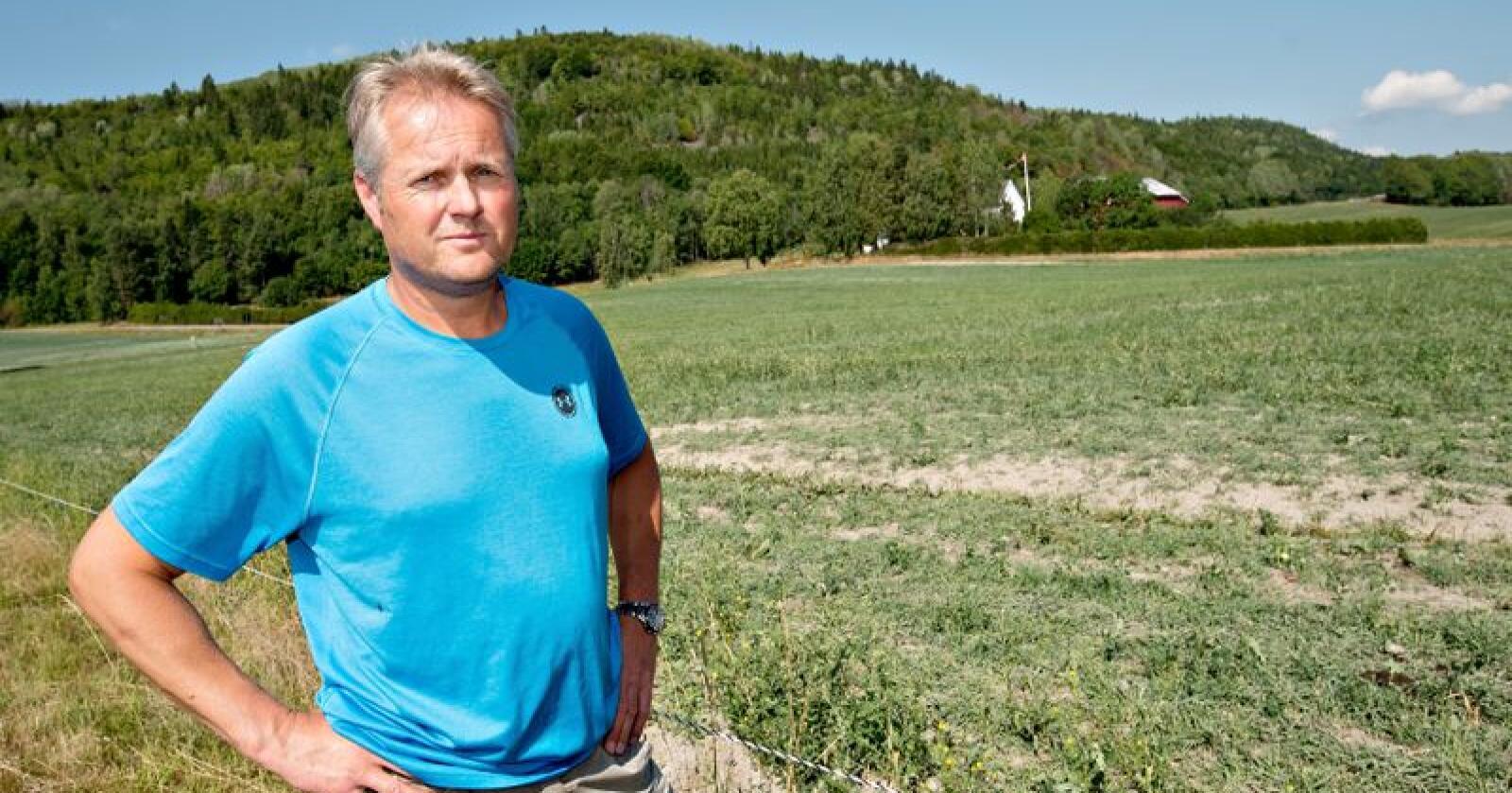 – Markedet trenger mer korn, og da må alle kornbruk med, sier leder av kornutvalget i Norges Bondelag, Hans Edvard Torp. Foto: Vidar Sandnes