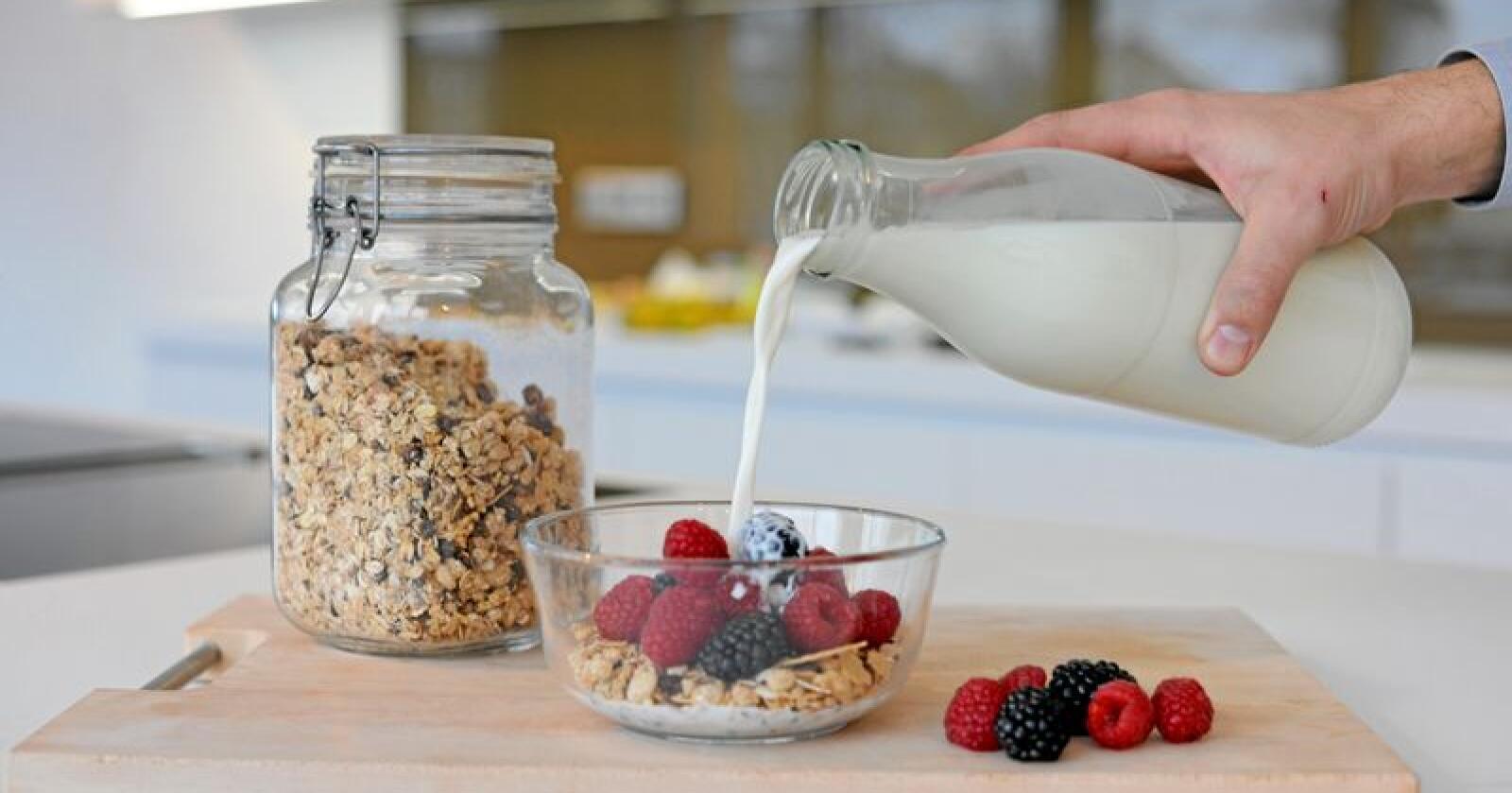 Hvert skoleår bruker EU 2,5 milliarder kroner på å støtte utdeling av melk, frukt og grønt til rundt 20 millioner skolebarn i unionen. Illustrasjonsfoto: Frank May / NTB scanpix