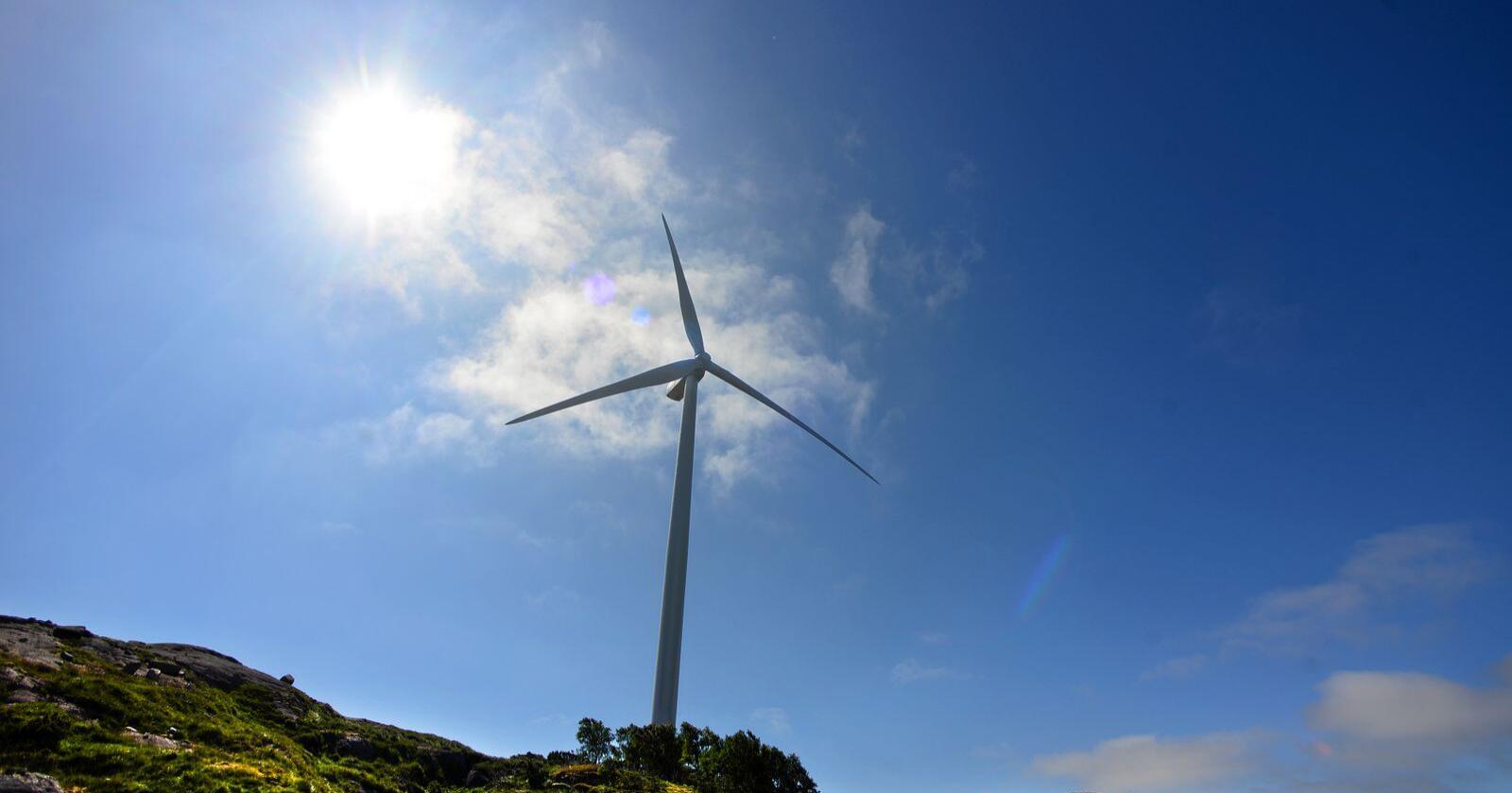 Andelen av den norske befolkningen som er negative til vindkraft har økt. Foto: Siri Juell Rasmsusen