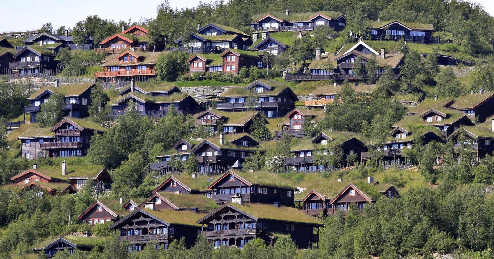 Én av fem nordmenn oppga at de brukte hytta sist helg. Her fra Beitostølen. FOTO: Sigmund Krøvel-Velle / NTB scanpix