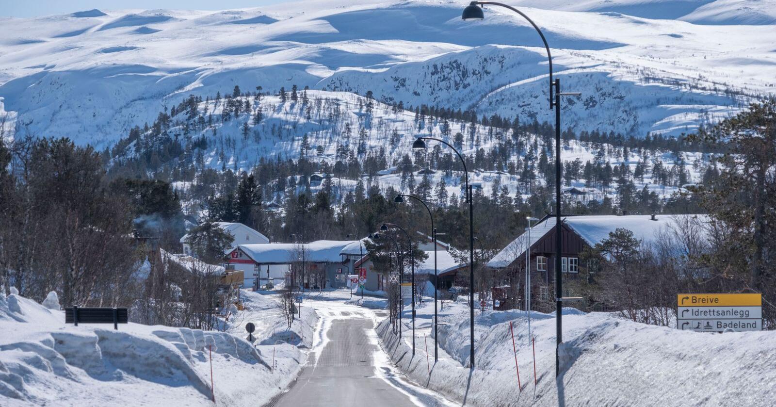 Forbudet mot å dra på hytta har ført til lite trafikk i de populære hytteområdene i landet, som her på Hovden i Setesdal. Foto: Tor Erik Schrøder / NTB scanpix