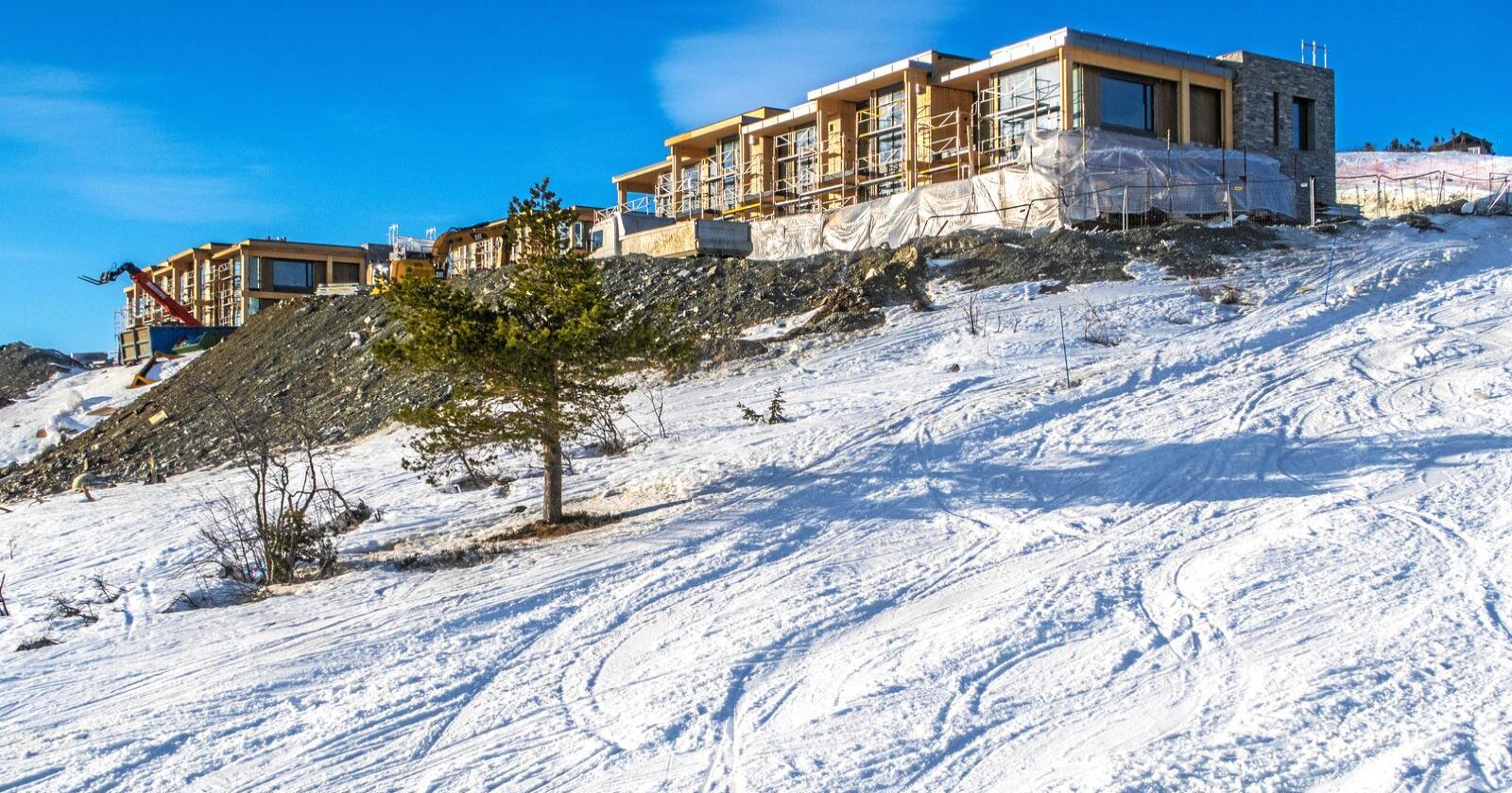 Nye spor: Dagens hytter brukes som bolig. Foto: Halvard Alvik / NTB scanpix