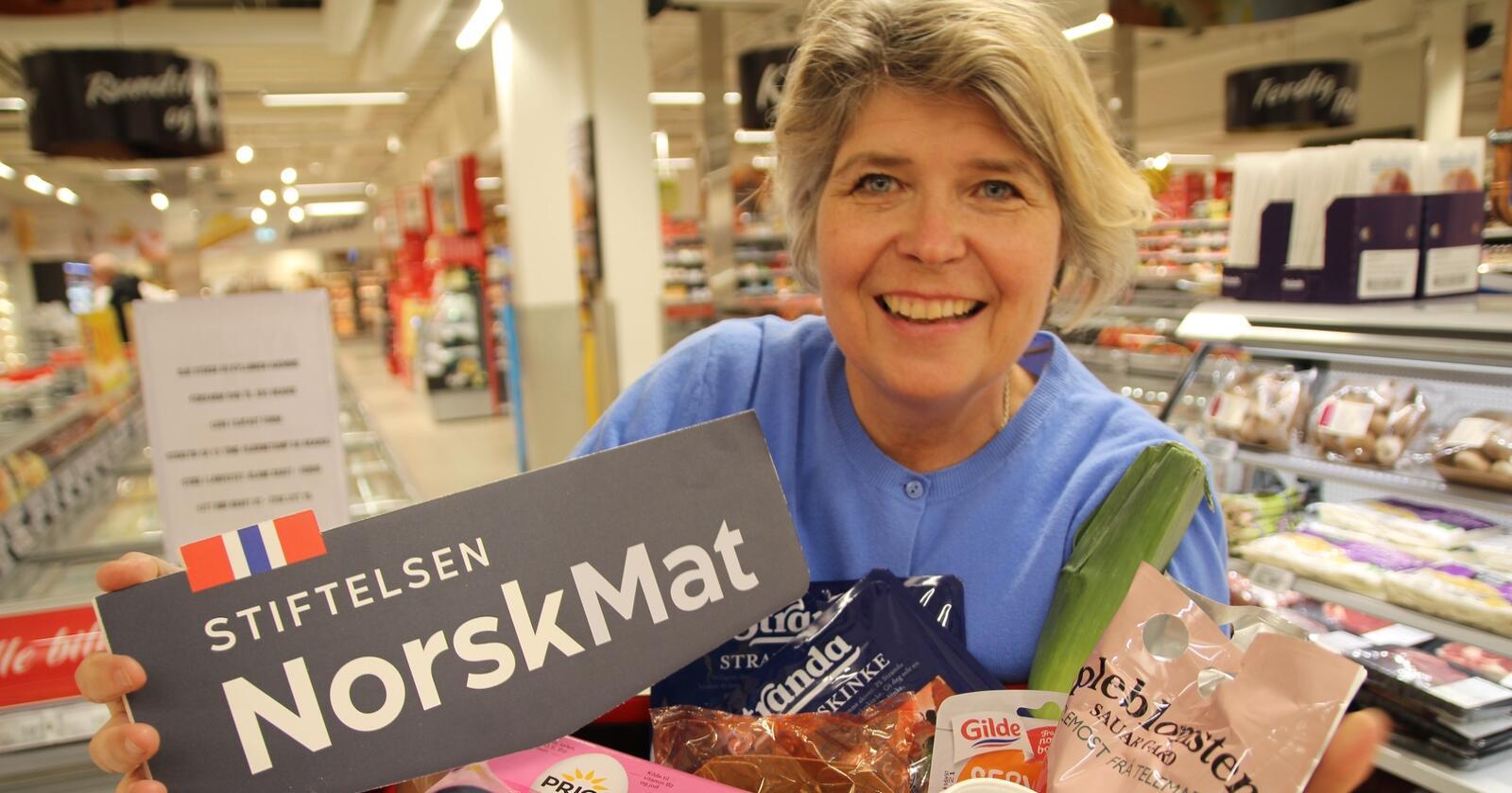 Administrerende direktør i Stiftelsen Norsk Mat, Nina Sundqvist, mener folk i sosiale medier skaper et inntrykk av flere feilmerkinger enn det reelt sett er. Foto: Stiftelsen Norsk Mat