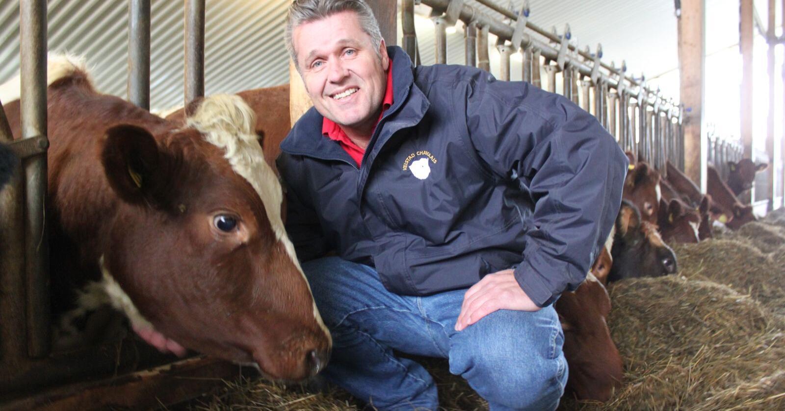 Erling Gresseth er kjøttprodusent på Stjørdal og styreleder i Tyr.