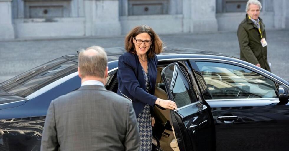 EUs handelskommisær Cecilia Malmström. Her på veg til møte i Alliance of Liberals and Democrats for Europe. Foto: ALDE Party / Flickr