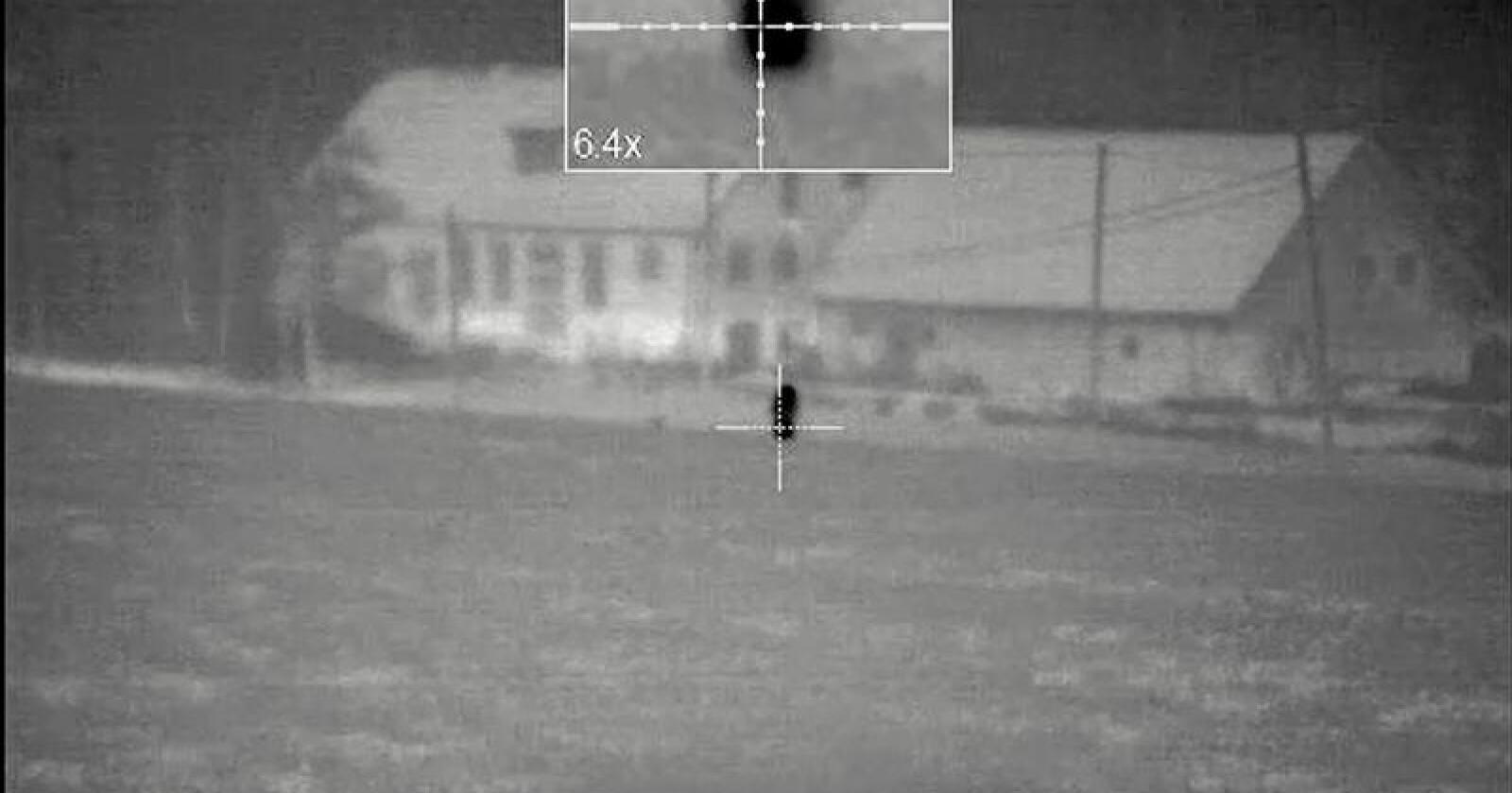 Bildet er hentet fra en video av skuddet. Se videoen nede i saken. Foto: Åklagarmyndigheten
