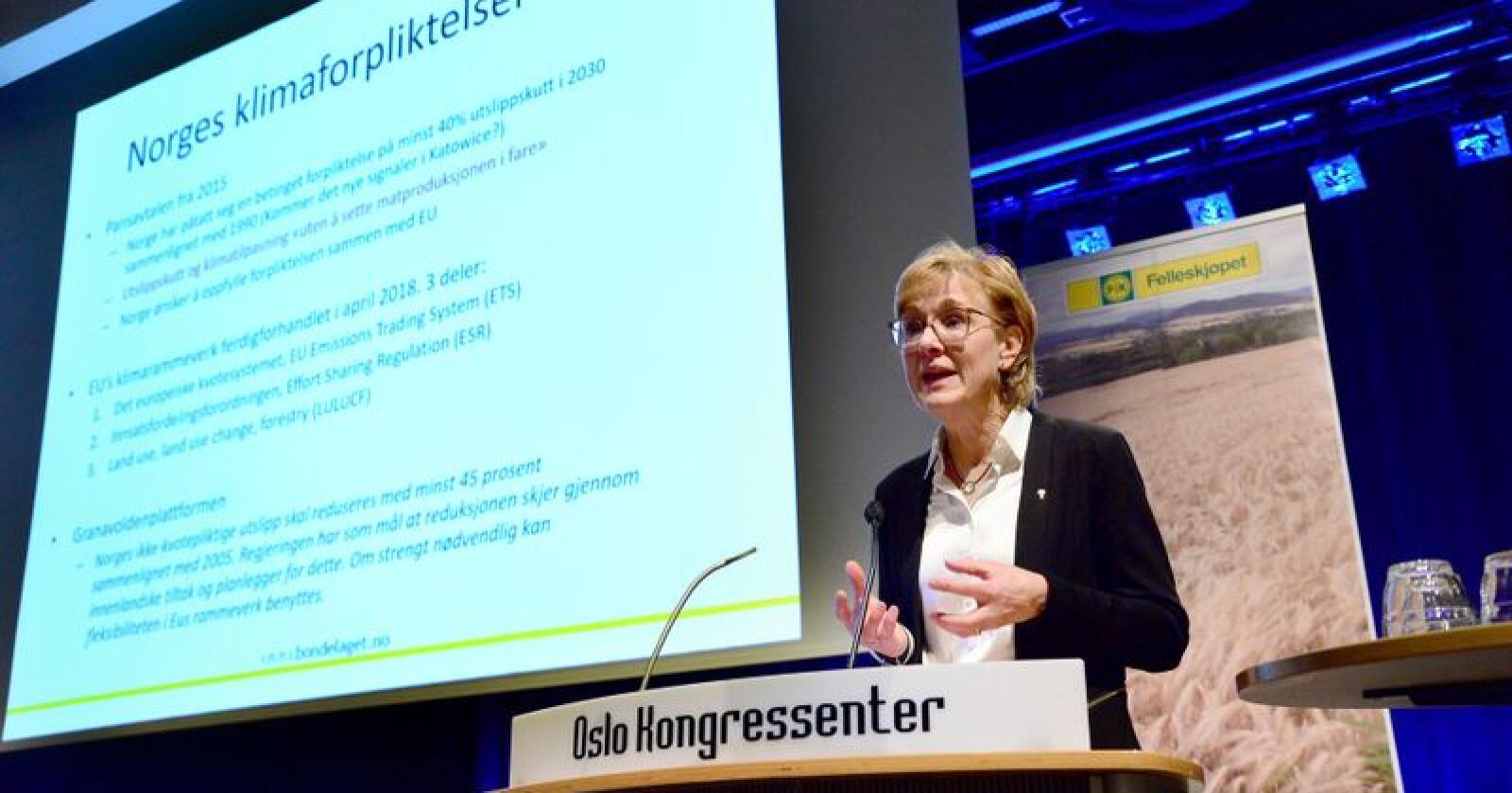 Sigrid Hjørnegård er ansatt som assisterende generalsekretær i Norges Bondelag. Foto: Siri Juell Rasmussen
