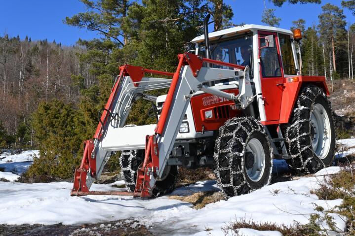Som ny: En 34 år gammel brukttraktor fanget vår interesse i Svarstad.
