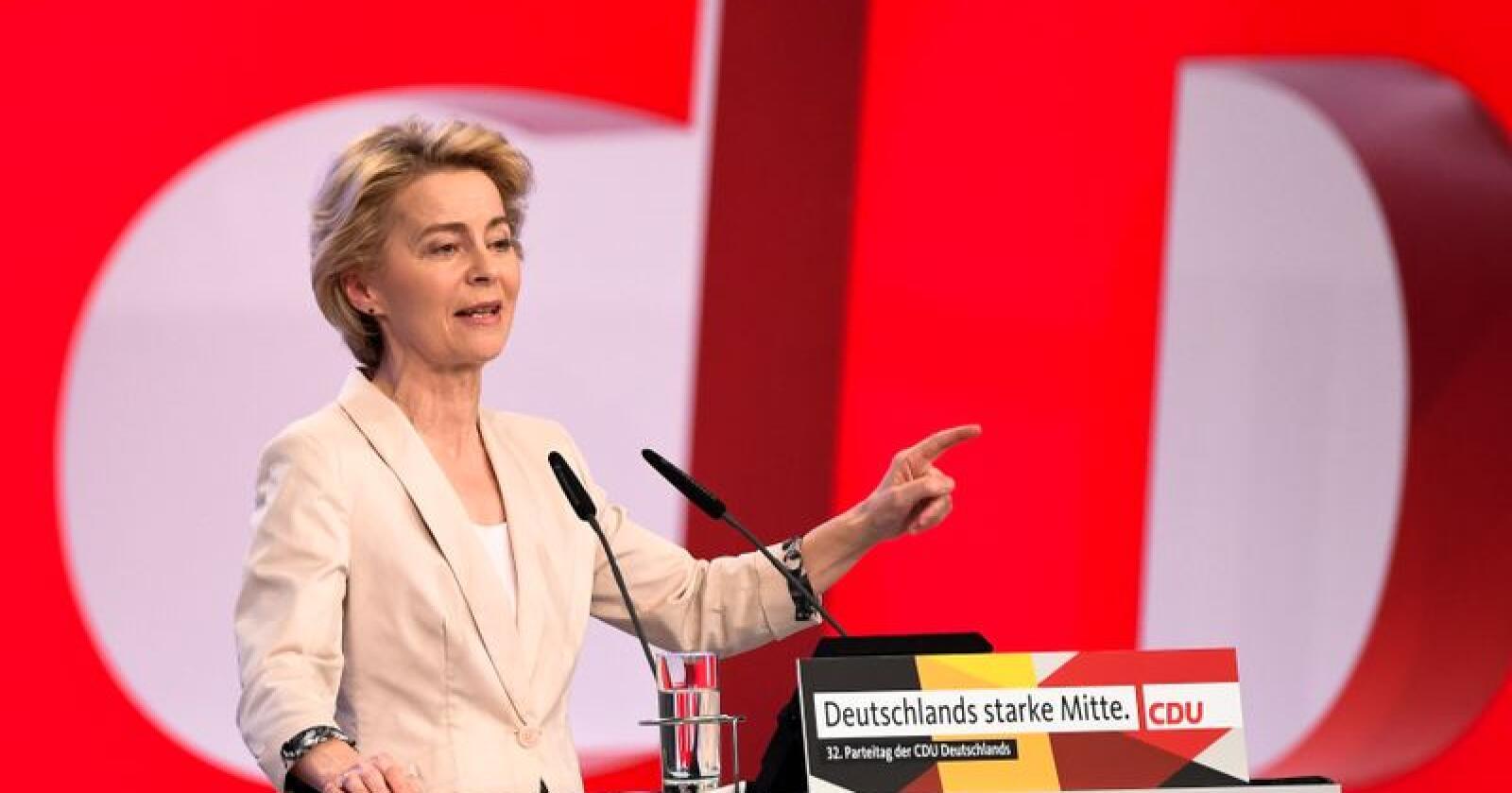 Alt ligger nå til rette for at EU-parlamentet kan godkjenne Ursula von der Leyens nye EU-kommisjon, til tross for at den ikke har en kommissær fra hvert medlemsland. Arkivfoto: Jens Meyer / AP / NTB scanpix