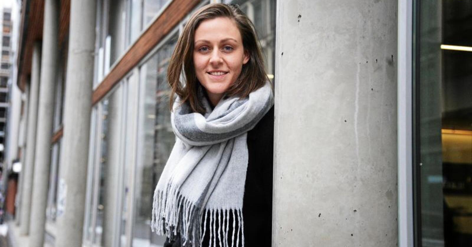 Tora Voll Dombu,  leder i Norges Bygdeungdomslag. Foto: Siri Juell Rasmussen