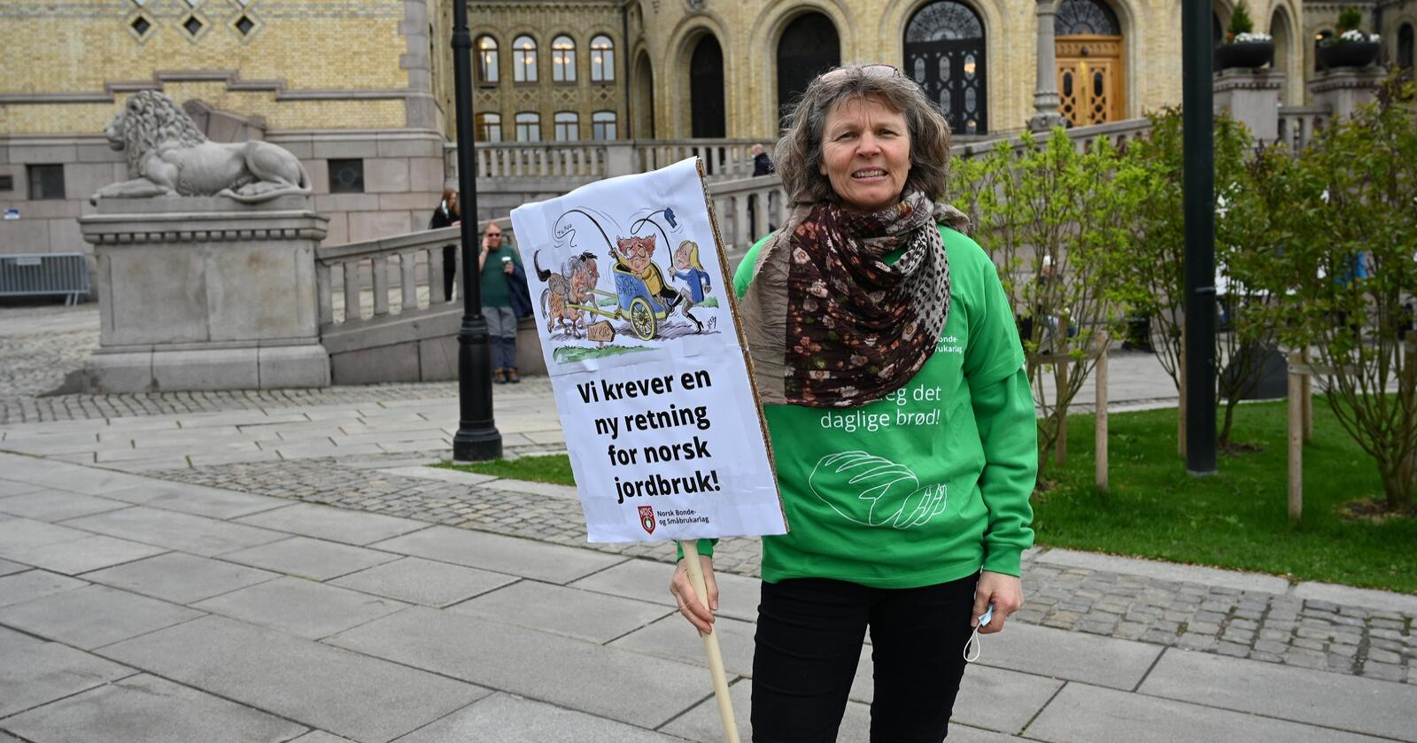 Kjersti Hoff, leder i Norsk Bonde- og Småbrukarlag. Foto: Siri Juell Rasmussen