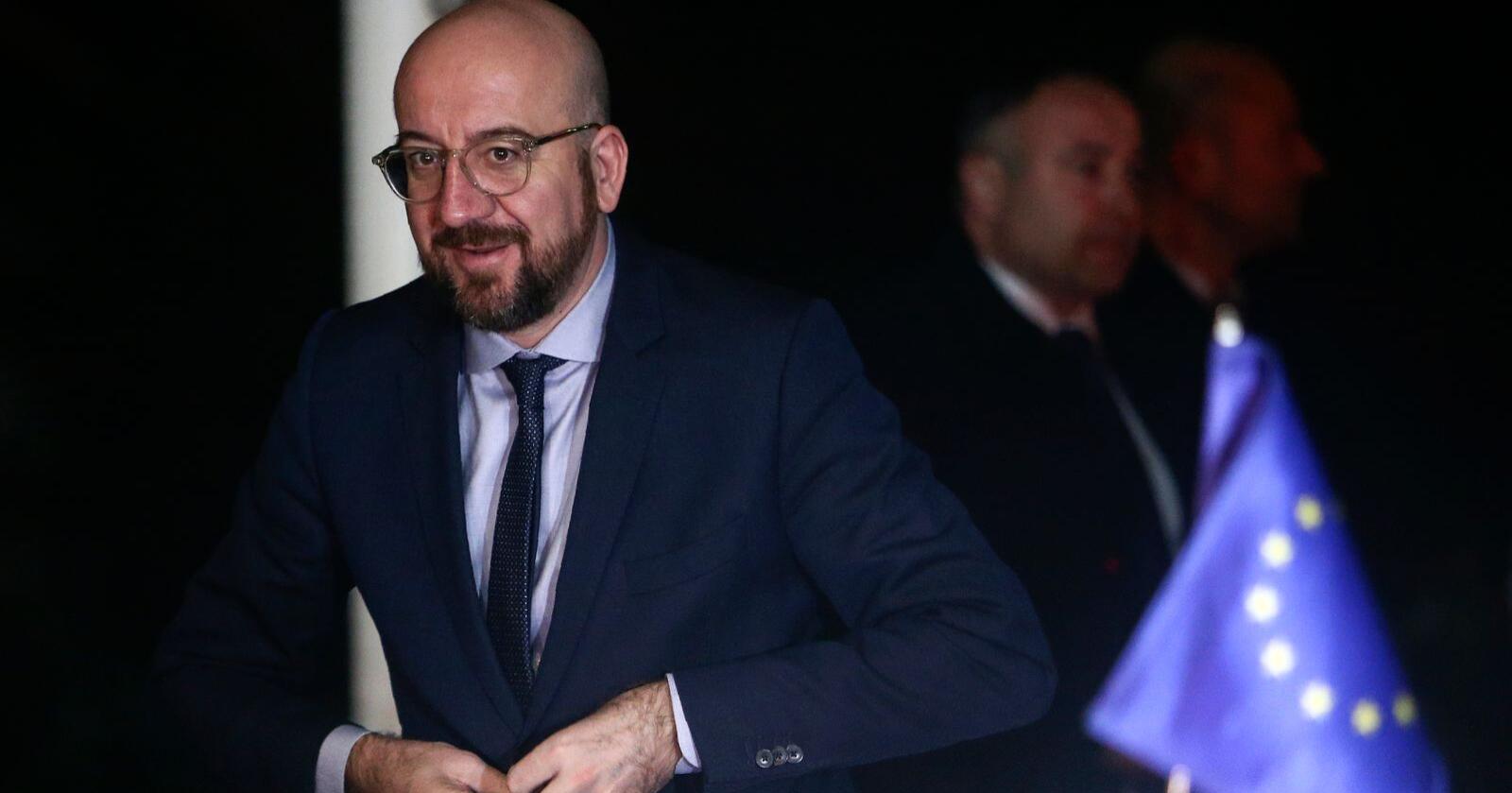 EU-topp Charles Michel møter motbør for det nye budsjettforslaget. Foto: AP Photo/Boris Grdanoski