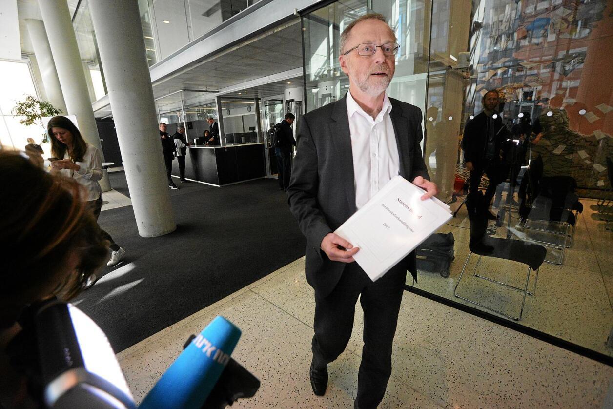 Tilbod: Statens forhandlingsleiar Leif Forsell seier tilbodet står seg veldig godt opp mot føringane Stortinget har lagt. Foto: Siri Juell Rasmussen