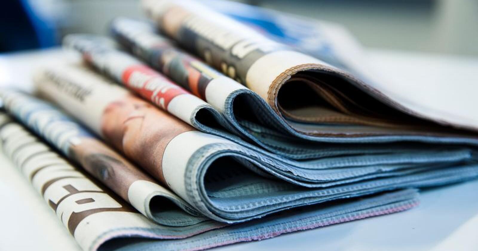 Papiravisen er fremdeles den viktigste inntektskilden for norske avishus. Foto: Berit Roald / NTB scanpix