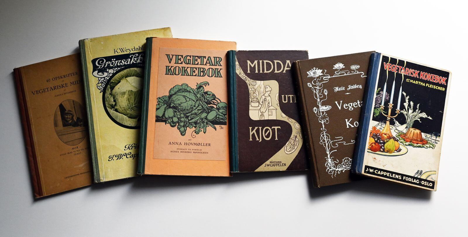 Da som nå: Også for mer enn hundre år siden kunne nordmenn forlyste seg med kokebøker med vegetarisk innhold. «Vi vilde bli meget friskere om vi la vår spiseseddel om til fordel for vår egen fisk og lacto-vegetabilske fødemidler», skrev Martha Fleischer. Foto: Per A. Borglund