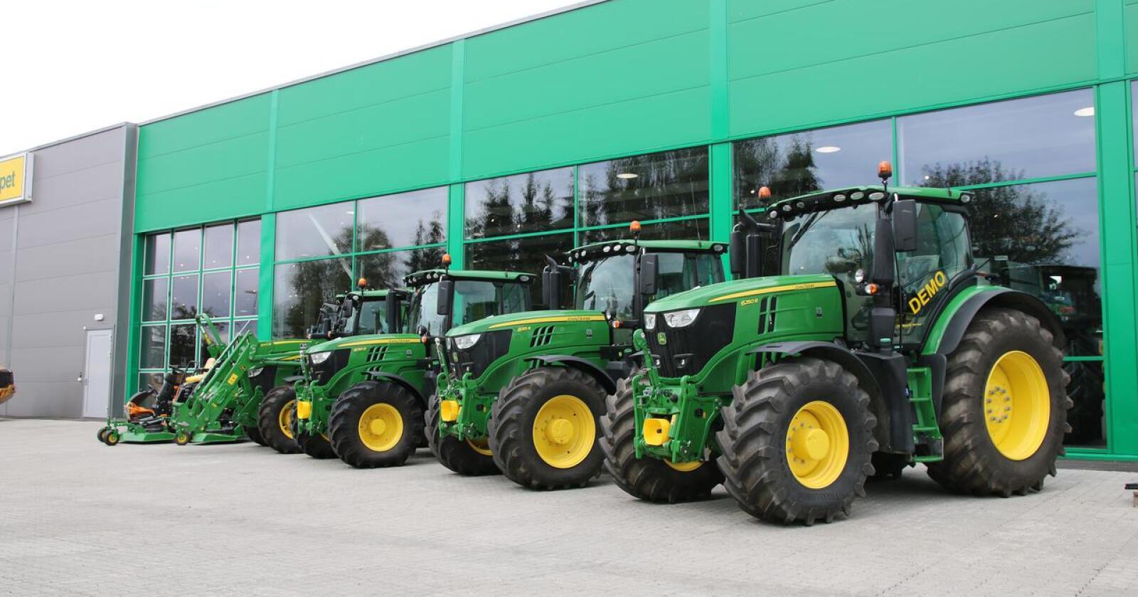Bra marked: brukte traktorer går for svært høye summer, også i Storbritannia.  Foto: Lars Raaen