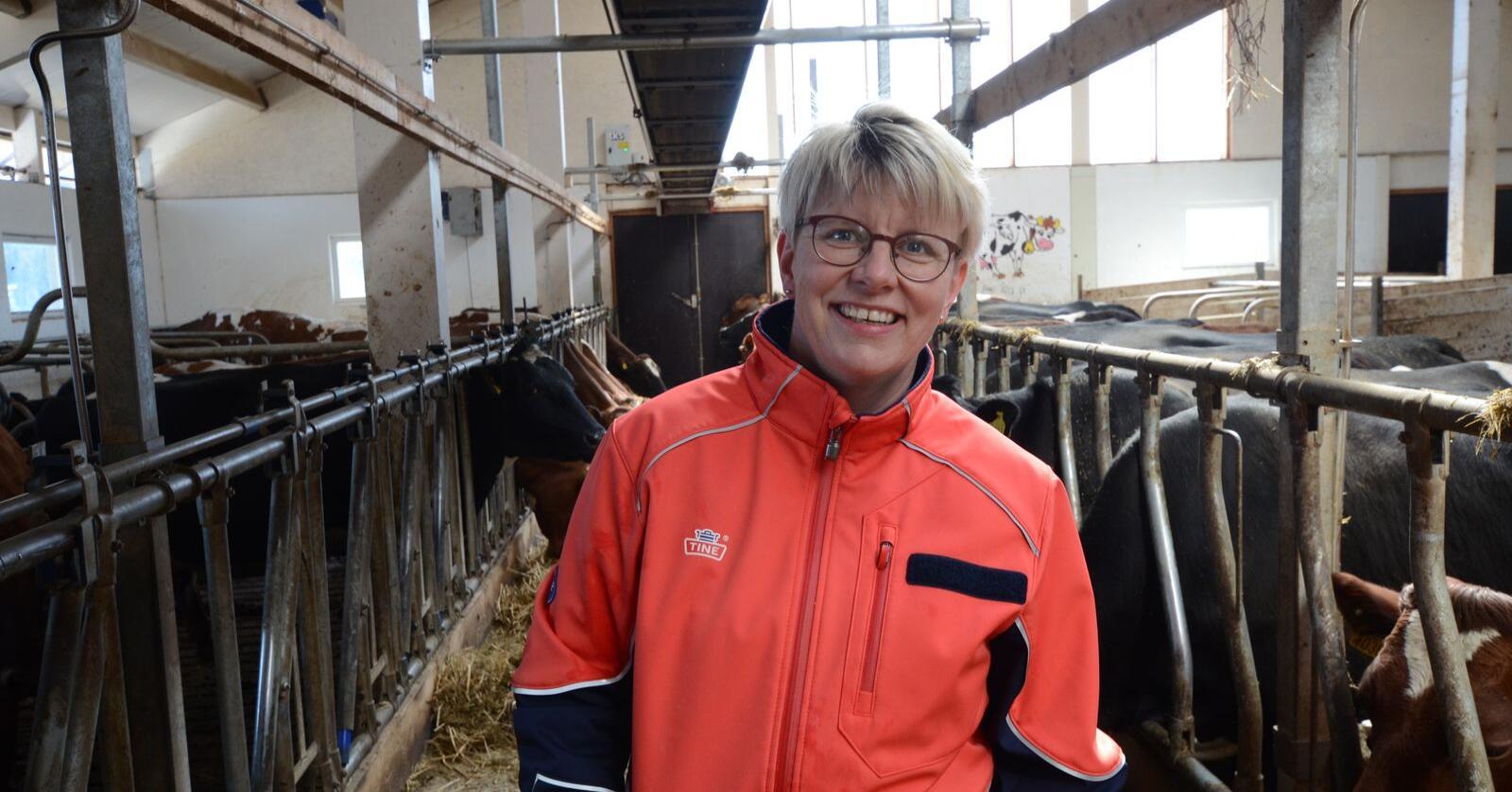 Det var stor enighet blant valgkomiteens medlemmer om at Marit Haugen skulle innstilles som styreleder for enda et år. Foto: Liv Jorunn D. Sagmo