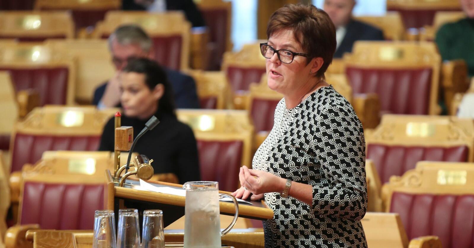 Hele åtte lokallag i Senterpartiet i Sør-Trøndelag vil ha Heidi Greni (Sp) som listetopp før stortingsvalget neste år. Ni lokallag vil ha Sp-nestleder Ola Borten Moe på topp. Arkivfoto: Vidar Ruud/NTB