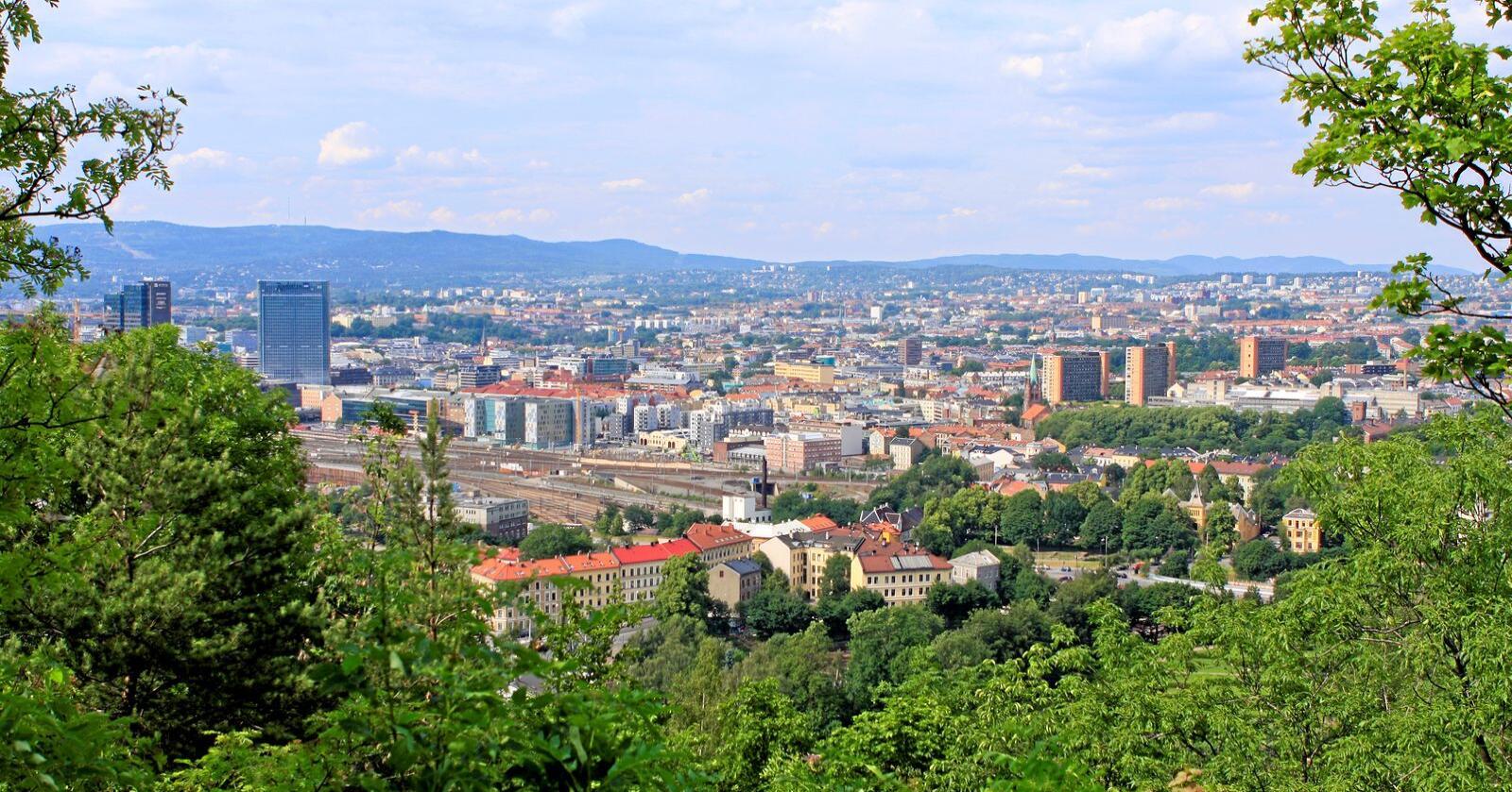 Kom til Oslo: Meiner du at folk som bur i by ikkje kan krevje klimakutt fordi dei forureinar så gale, bør du ta ein tur til ein storby i sommar, for eksempel Oslo, skriver Inger Johanne Sæterbakk. Foto: Mostphotos