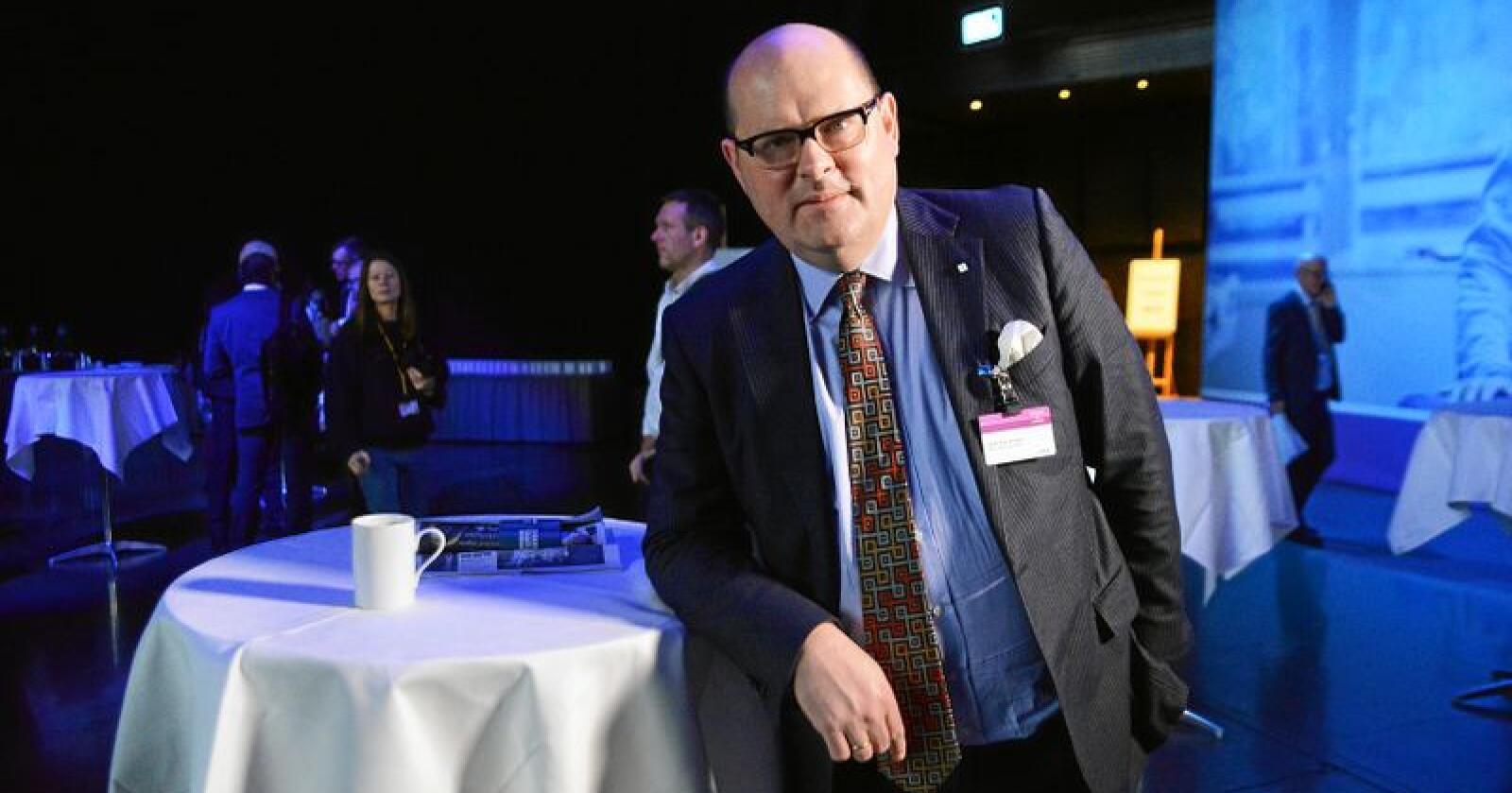 Petter Haas Brubakk i NHO mat og Drikke mener erstatningsordningen for pelsdyroppdretterne i bunn og grunn er et spørsmål om anstendighet. Foto: Siri Juell Rasmussen