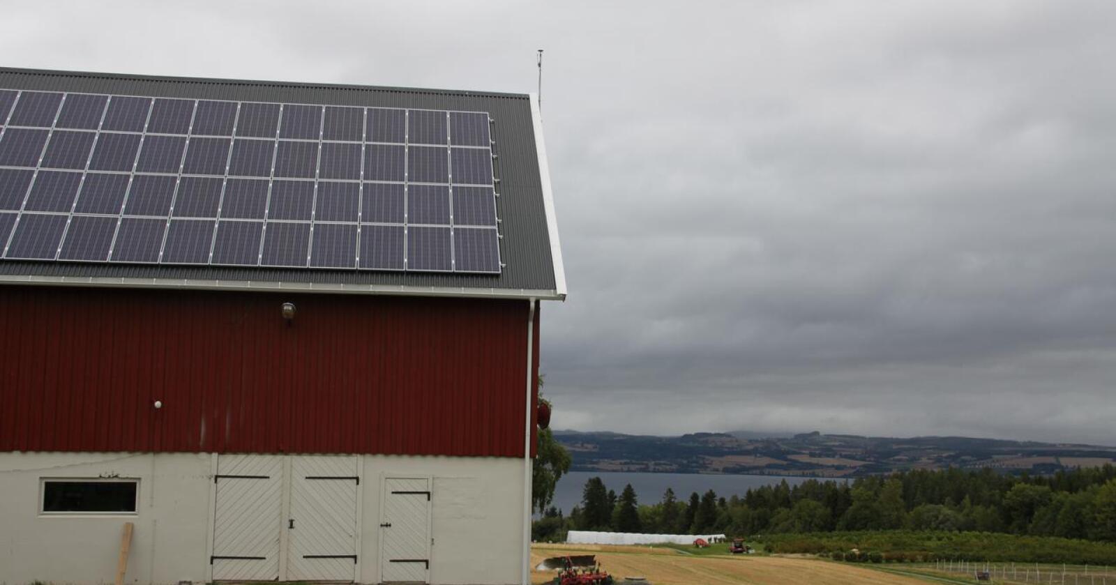 Tilrettelegging av egenproduksjon av energi er et av tiltakene organisasjonene har sett på. Foto: Lars Bilit Hagen