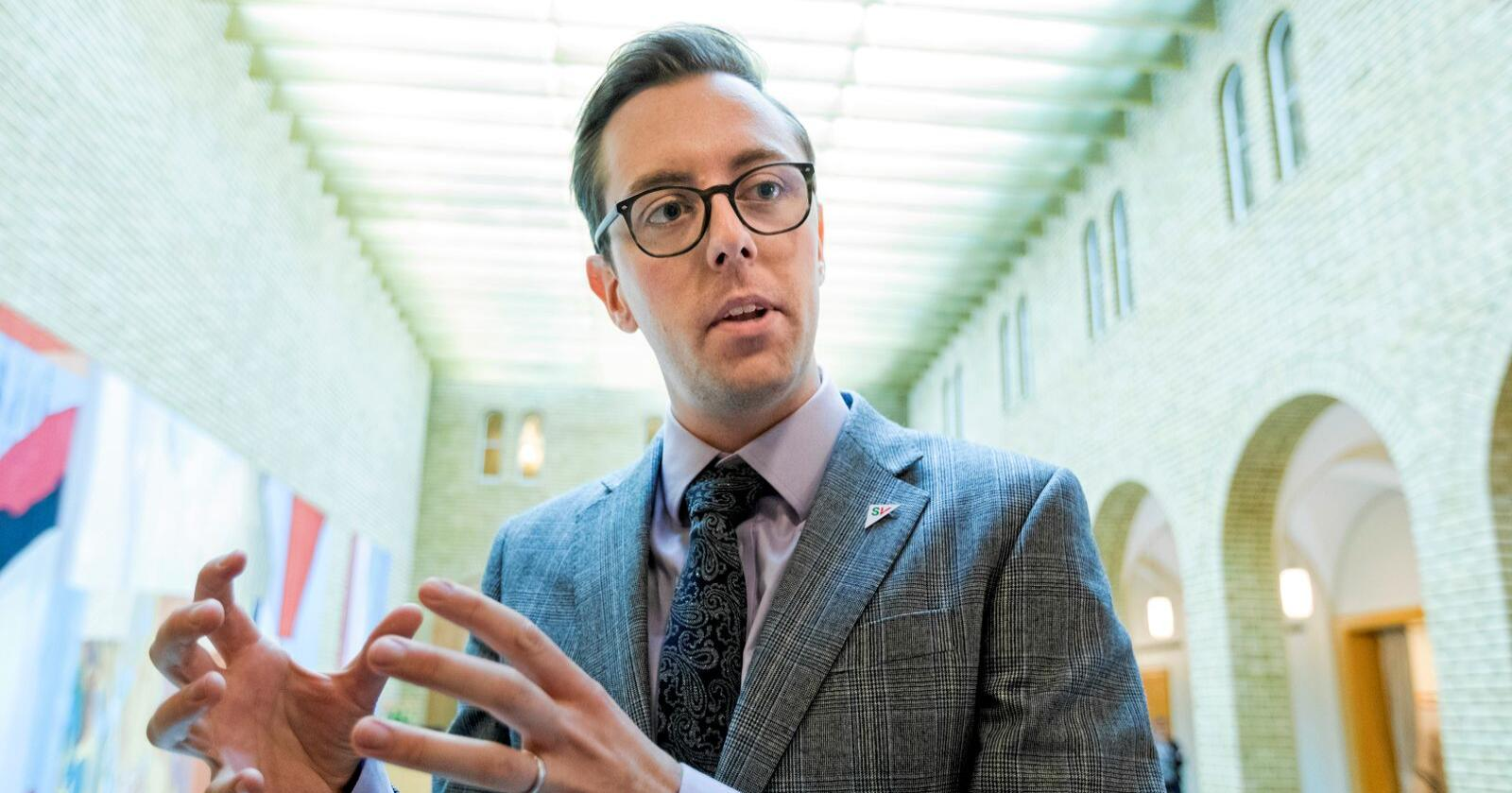 Nicholas Wilkinson er Stortingsrepresentant for Sosialistisk Venstreparti. Foto: Gorm Kallestad / NTB scanpix