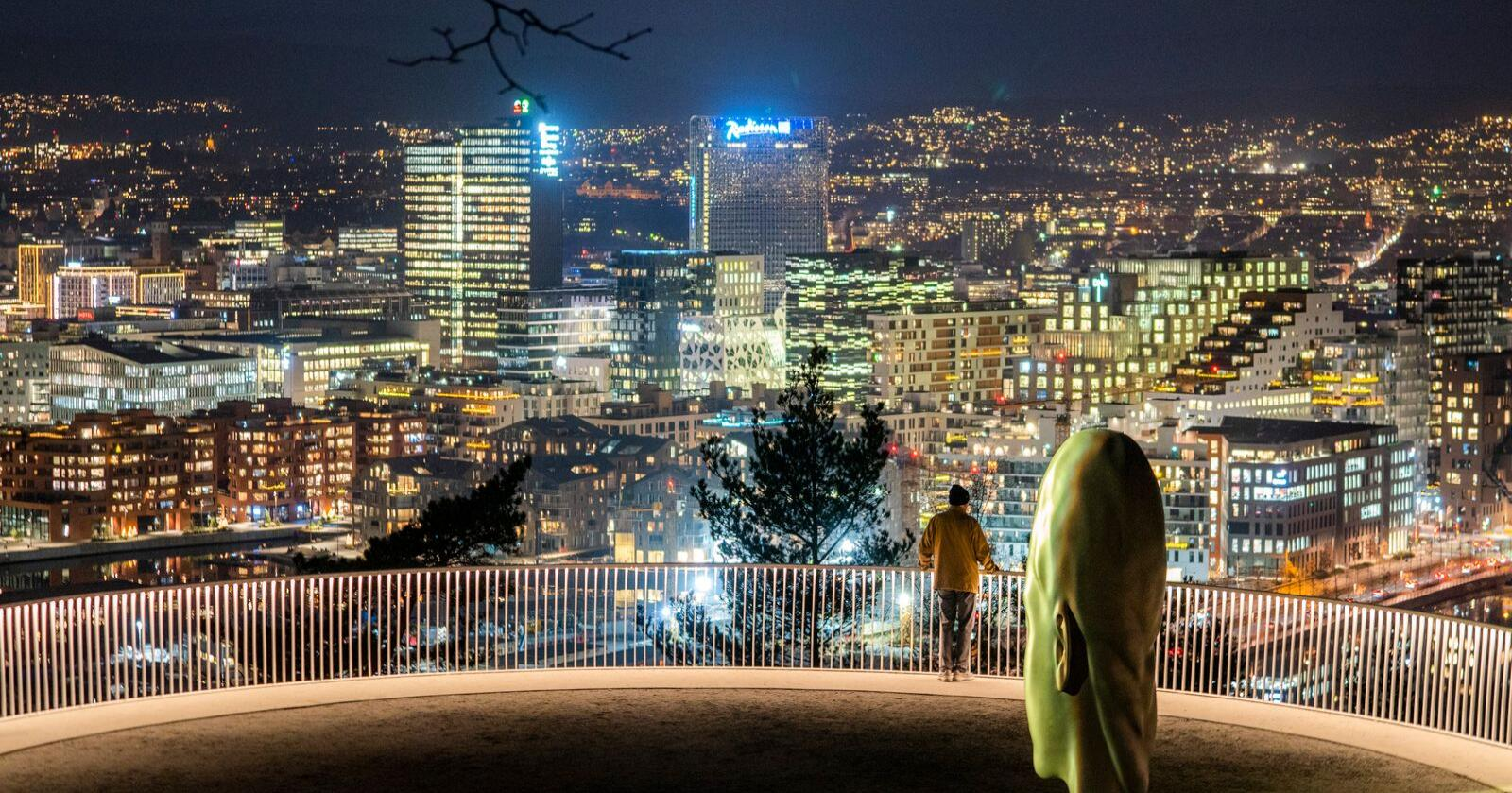 Det kostet langt mindre å lyse opp Oslo i 2020 enn i 2019. Foto: Håkon Mosvold Larsen / NTB