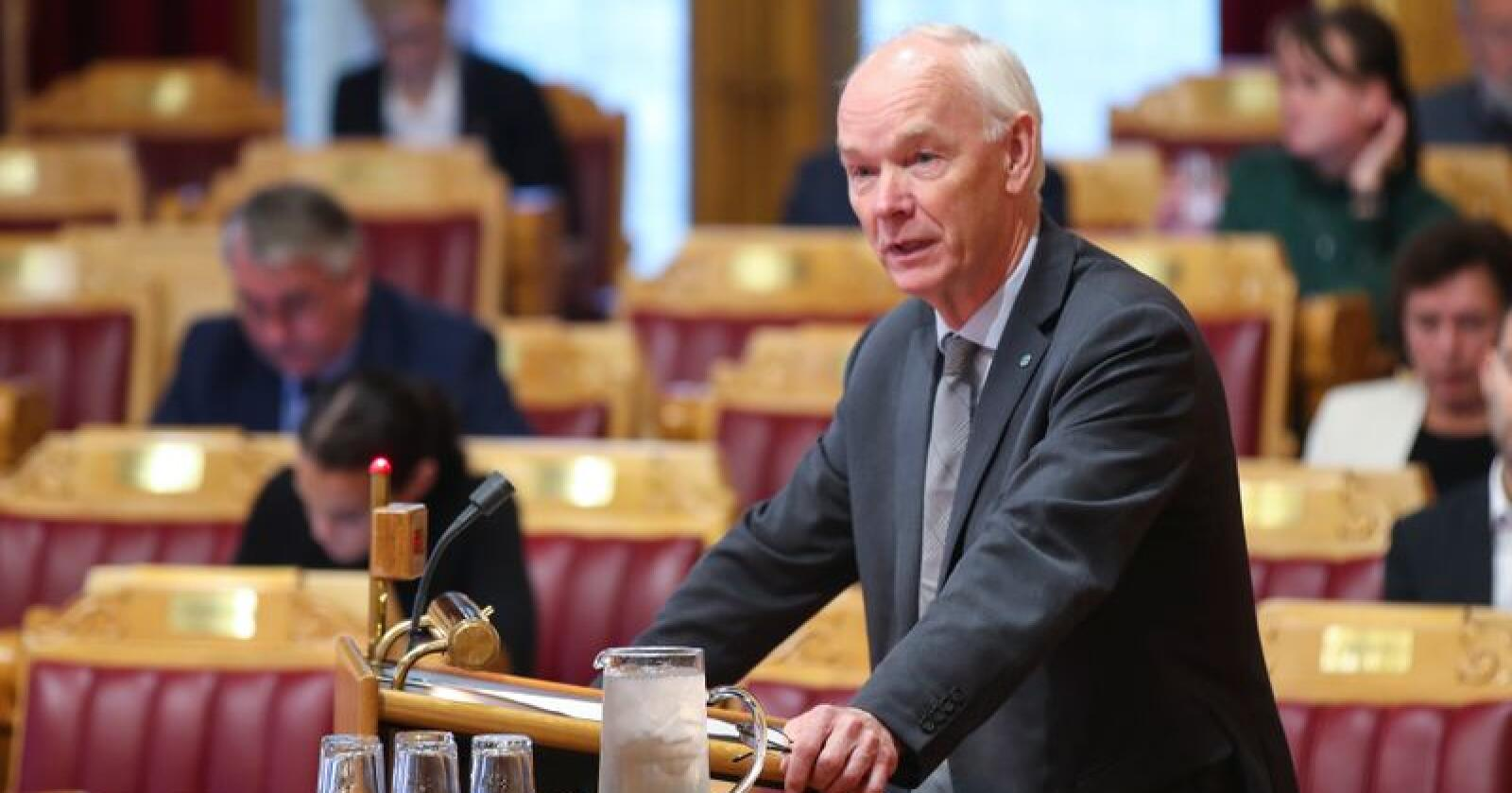 Senterpartiets Per Olaf Lundteigen mener at villsvin må utryddes og ikke forvaltes. Foto: Vidar Ruud / NTB scanpix
