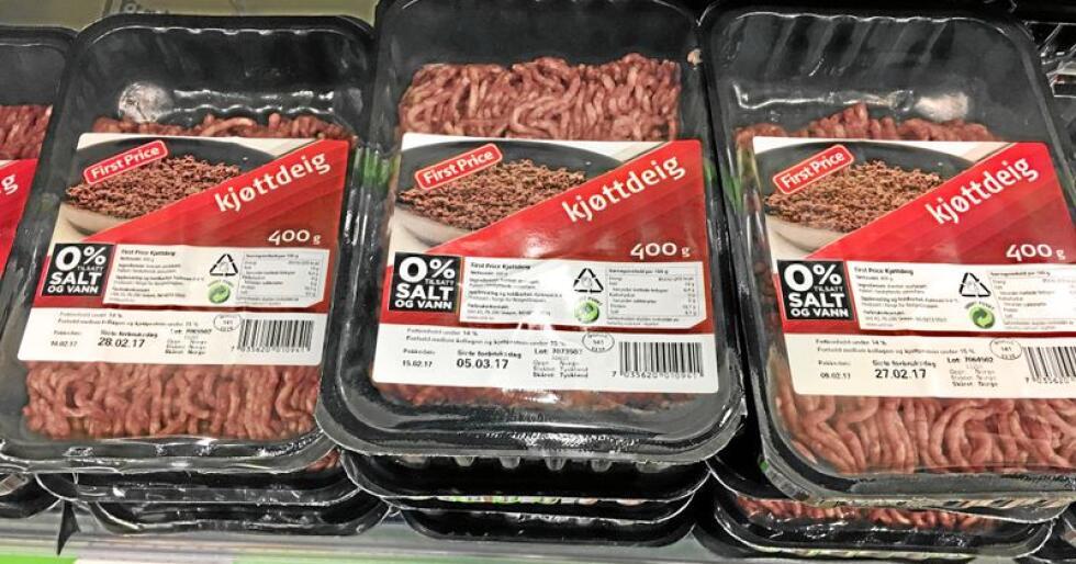 First Price er Norgesgruppenes egen produktserie. Matvarebutikkene tjener nå mer på sine egen produkter enn tidligere. Foto: Benjamin Hernes Vogl