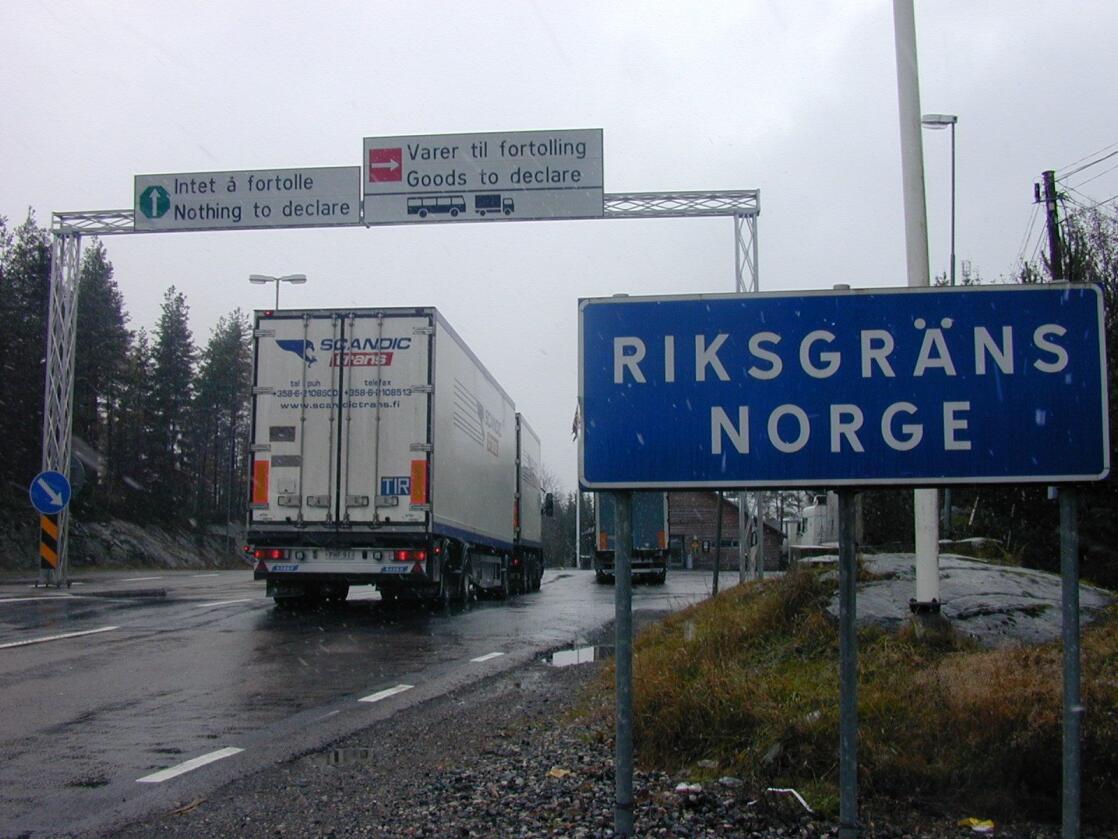 Grensehandelen har gått ned etter restriksjonane vart innført. Foto: Lars Johan Wiker