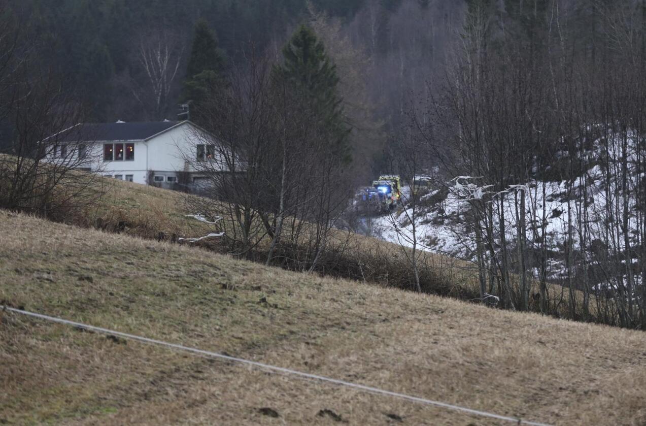 Da politiet rykket ut til en gård i Levanger onsdag, fant de to menn døde. Foto: Terje Næss / NTB scanpix