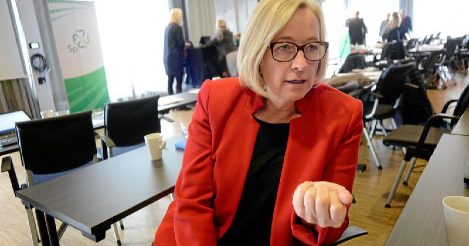 Parlamentarisk leder for Senterpartiet, Marit Arnstad. Foto: Siri Juell Rasmussen