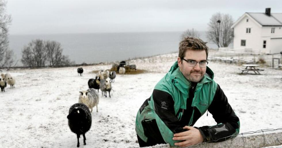 Da Mats Hegg Jacobsen starta med gårdsdrift i 2013 valgte han også å promotere varene i sosiale medier, samt vise fram gårdslivet. Foto: Mariann Tvete