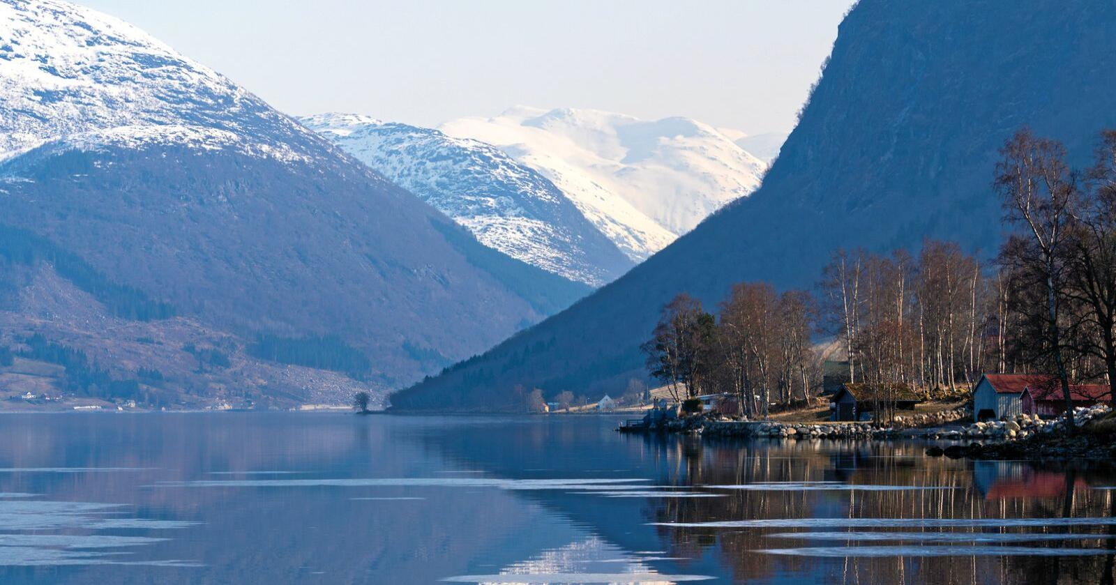 Jølstravatnet er en innsjø i Sunnfjord kommune, i Vestland fylke. Innsjøen er en del av Jølstravassdraget. Like i nærheten finner man Jølstraholmen Camping & Hytter, som har benyttet sosiale medier i lang tid som markedsføring. Foto: Privat/Jølstraholmen Camping & Hytter