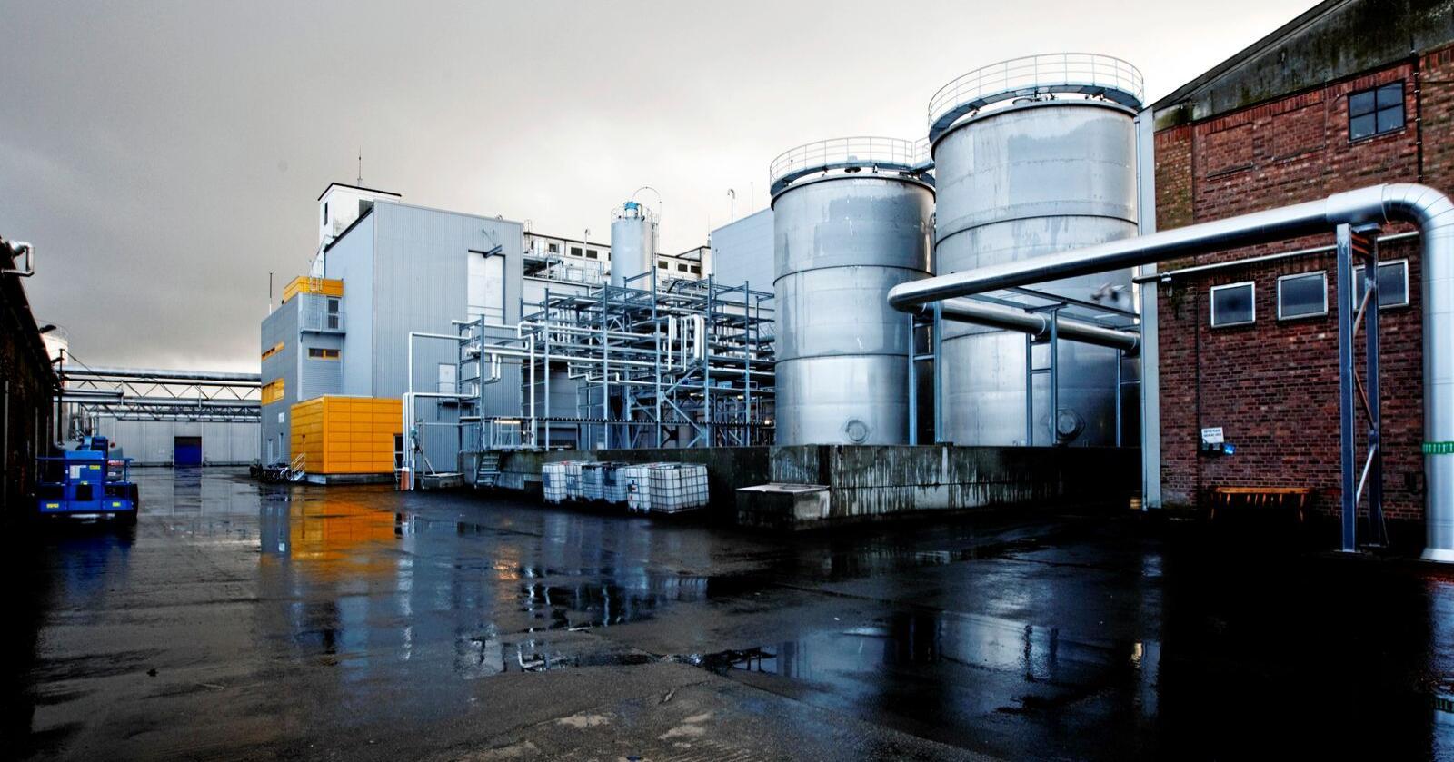 Måtte legge ned: Biodrivstoffprodusenten Uniol måtte stenge ned etter rødgrønn avgiftsøkning i 2009. Nå er historien i ferd med å gjenta seg. Foto: Cornelius Poppe/NTB scanpix