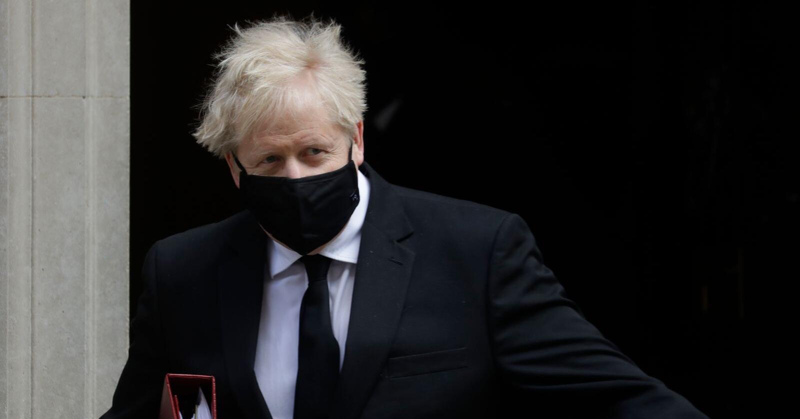 Statsminister Boris Johnson, her utenfor 10 Downing Street i forrige uke. Foto: Kirsty Wigglesworth / AP / NTB