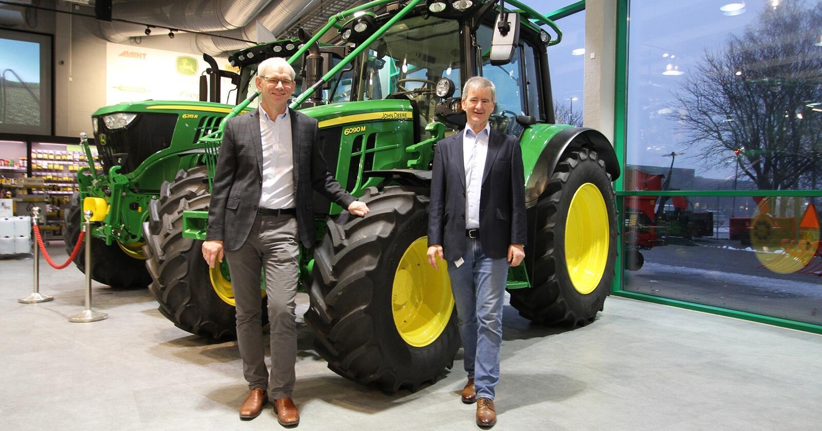 LEDERE: Frode Dahl og Trond Andersen er henholdsvis leder i TLIF og prosjektleder for Agroteknikk 2021. Foto: Agroteknikk